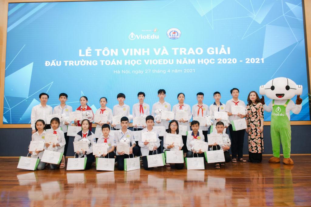 trao giải đấu trường toán học vioedu huyện phúc thọ